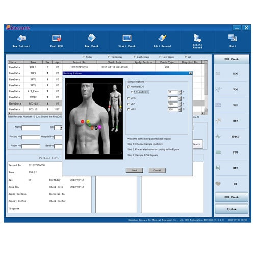 Real-time curve representation & evaluation | ECGs can be processed directly on PC