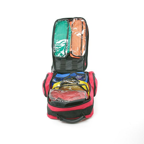 Contains filled molle pouches that can be removed and adjusted per the user's needs
