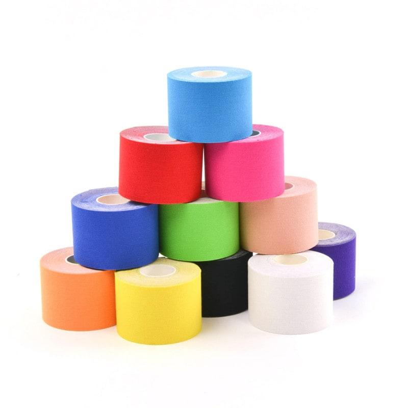 Teqler Kinesiology-Tape aus latexfreiem Baumwollstoff, in vielen Farben