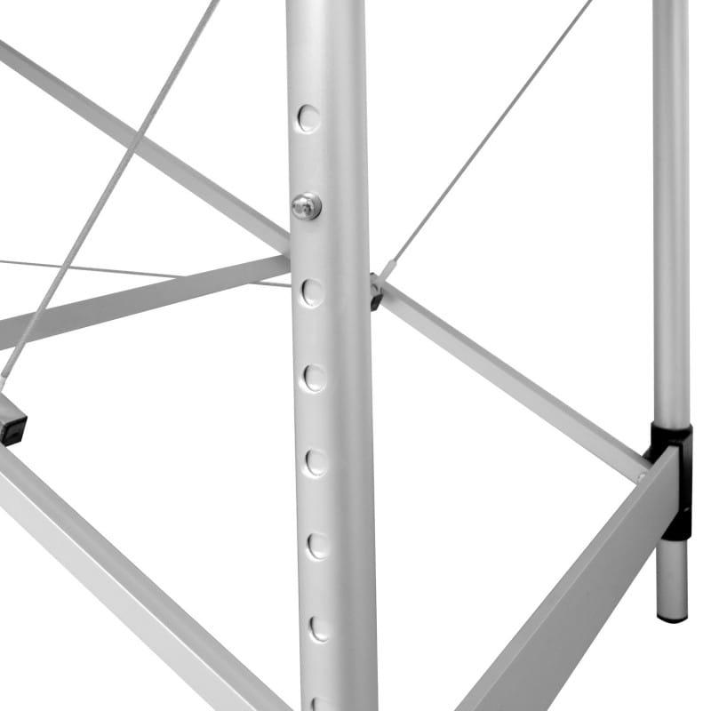 Con telaio stabile in alluminio, regolabile in altezza