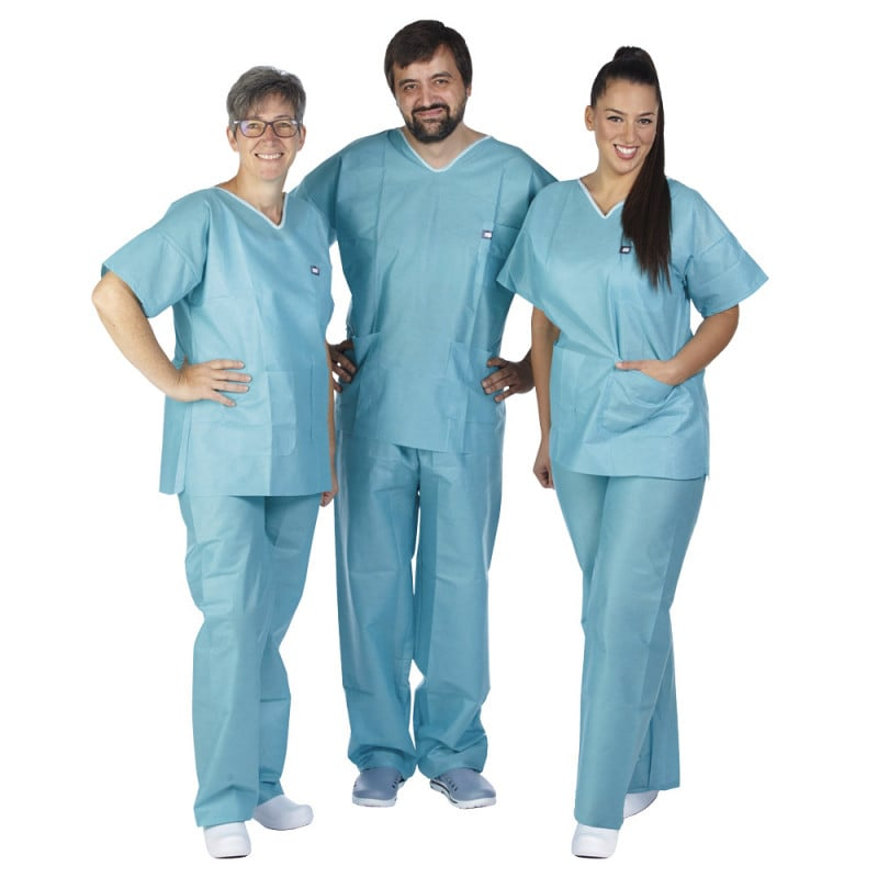 Unisex theatre scrub set for men and women