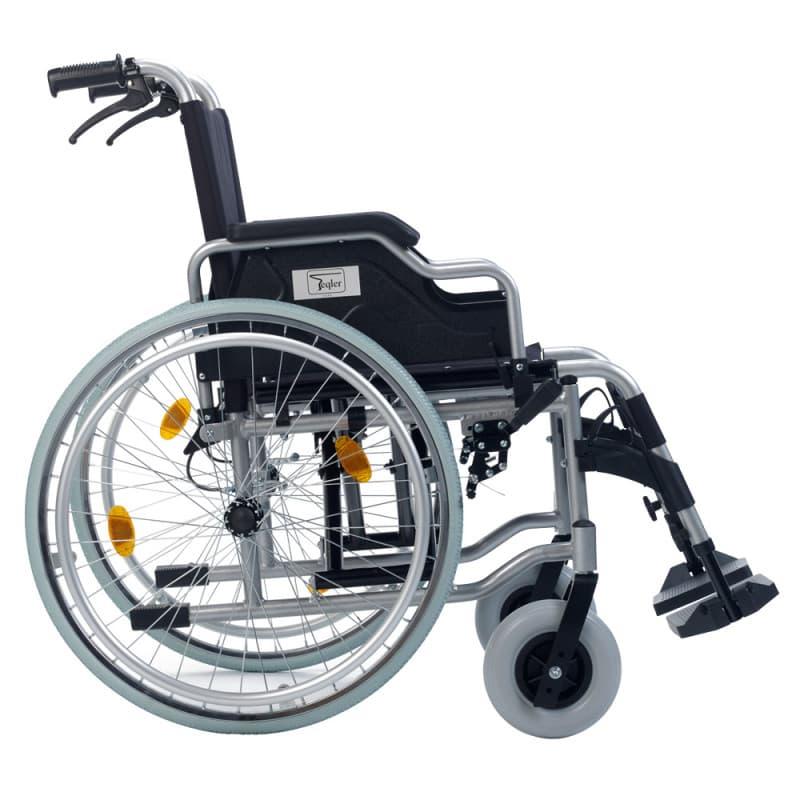 Antriebsräder beidseitig mit Greifreifen ausgestattet