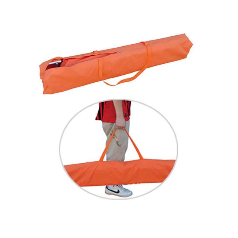 Delivered with a carrying bag to transport and store the stretcher