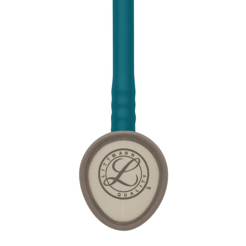 Droplet shaped chestpiece easily slides under sphygmomanometer cuffs
