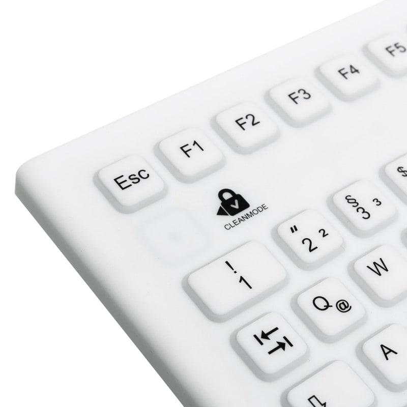 Clavier silicone avec pavé tactile