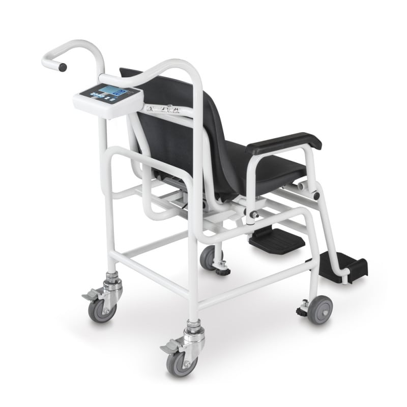 Robust frame allows for weighing patients up to 250 kg