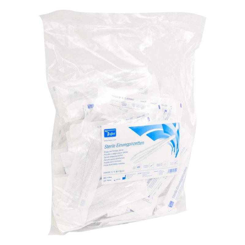 100 sterile forceps per bag