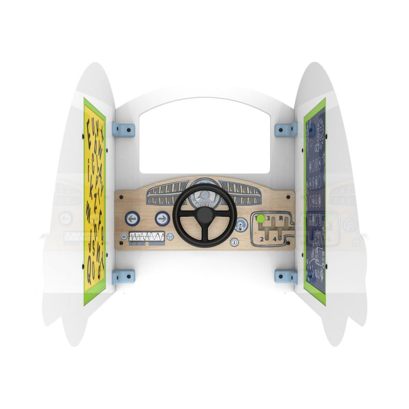 Steering wheel and buttons for realistic gaming experience