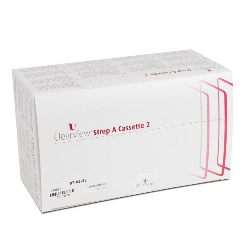 El kit Clearview Strep-A contiene casetes de prueba y reactivos para 25 pruebas