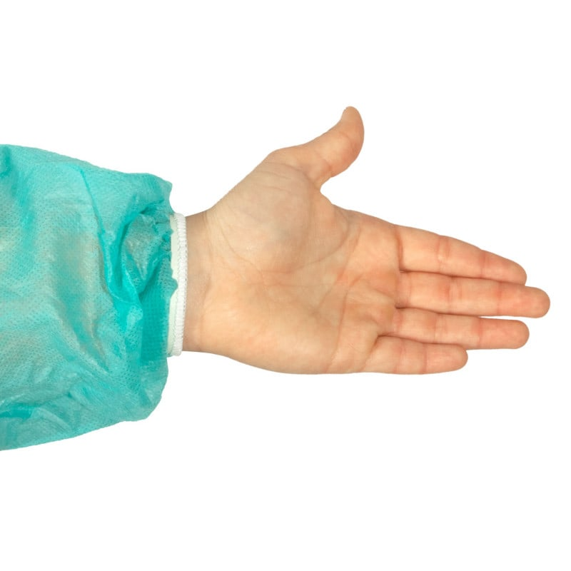Sleeves with rubber bands to offer a comfortable fit