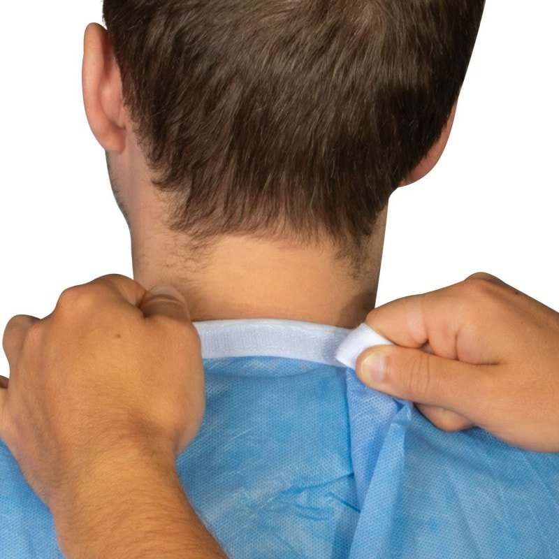 Praktischer Klettverschluss im Nacken