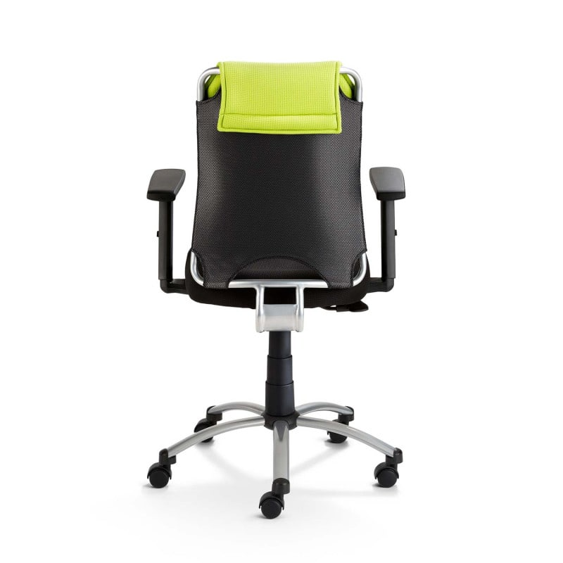 Backrest made of elastic fabric, available in various colours