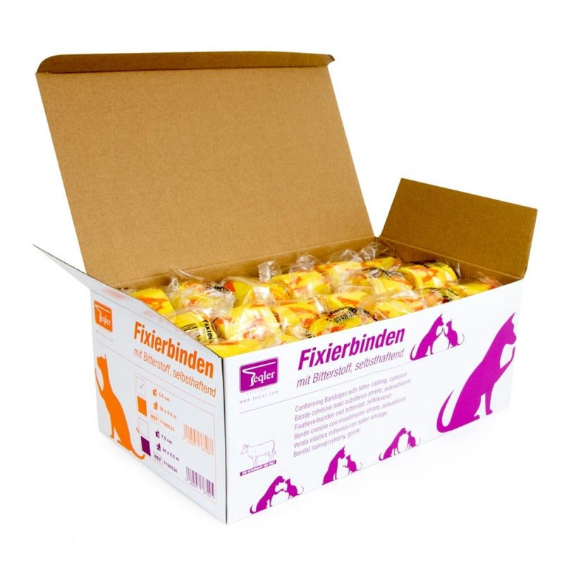Orders of 36 bandages are delivered in durable box