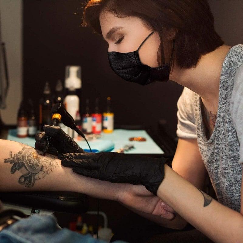 Masque Teqler, noir