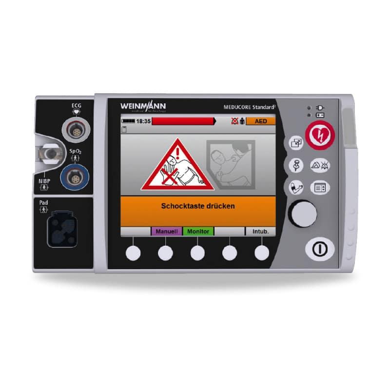 Displayanzeige im AED-Modus