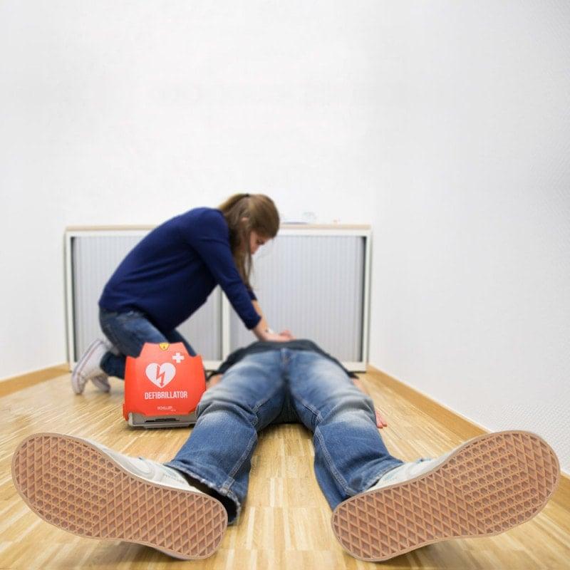 Ideal geeignet zur Defibrillation durch medizinische Laien