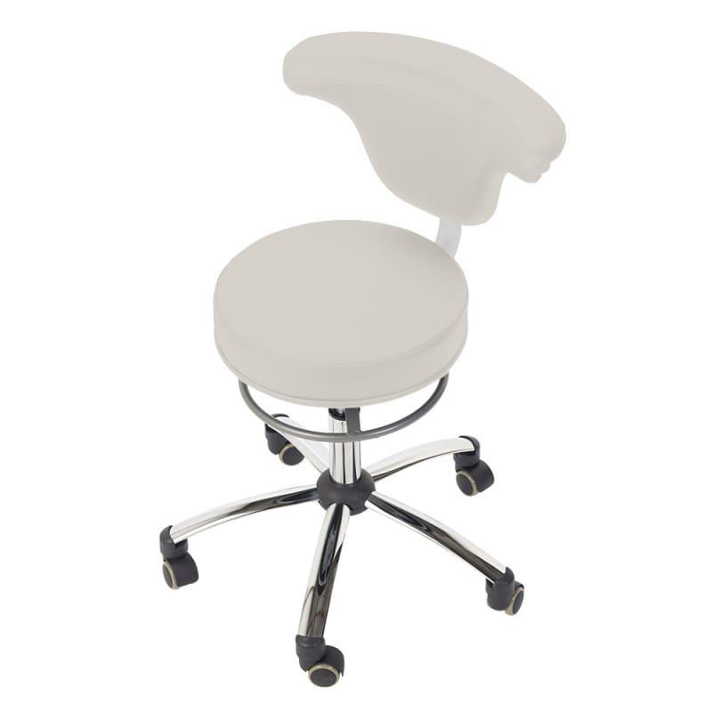 Der Praxis-Drehstuhl ermöglicht das Sitzen in vielen Positionen
