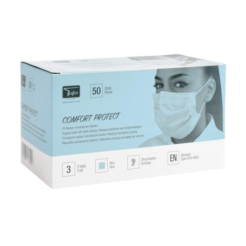 3-lagiger Mundschutz mit elastischen Ohrbändern