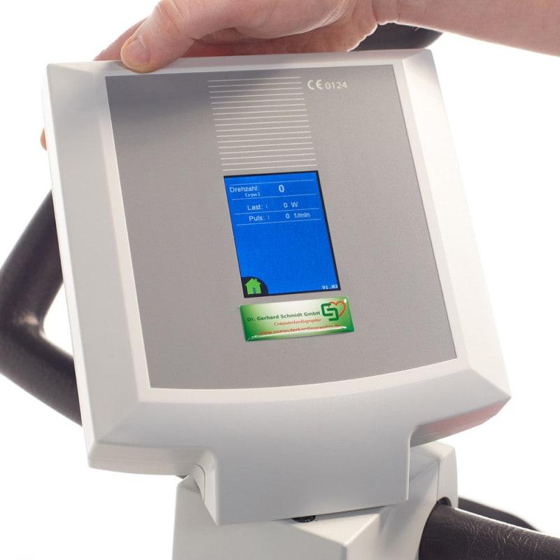 Pantalla giratoria de 270°, de alta resolución e iluminada (también se puede alinear con el médico si es necesario)