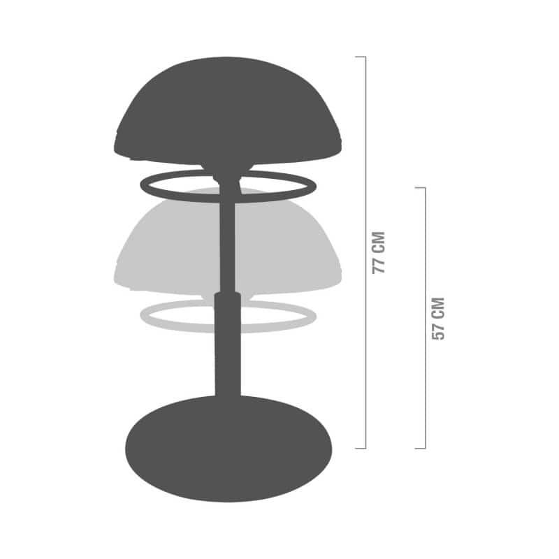 Altura ajustable de 57 a 77 cm