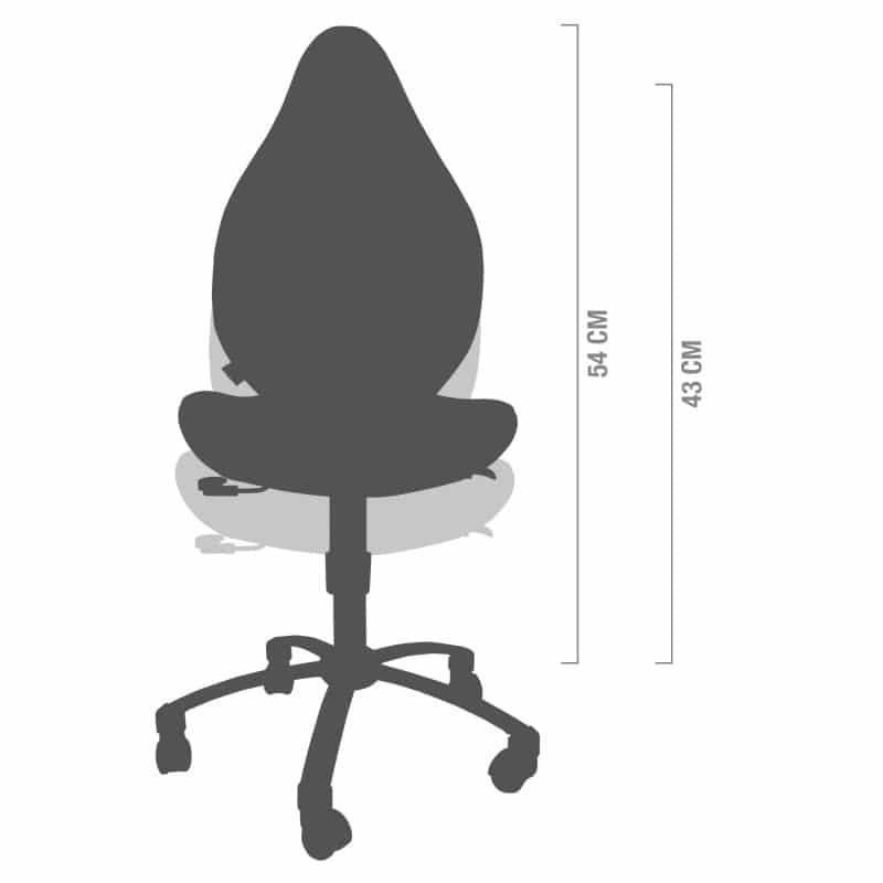 In hoogte verstelbaar van 43 tot 54 cm