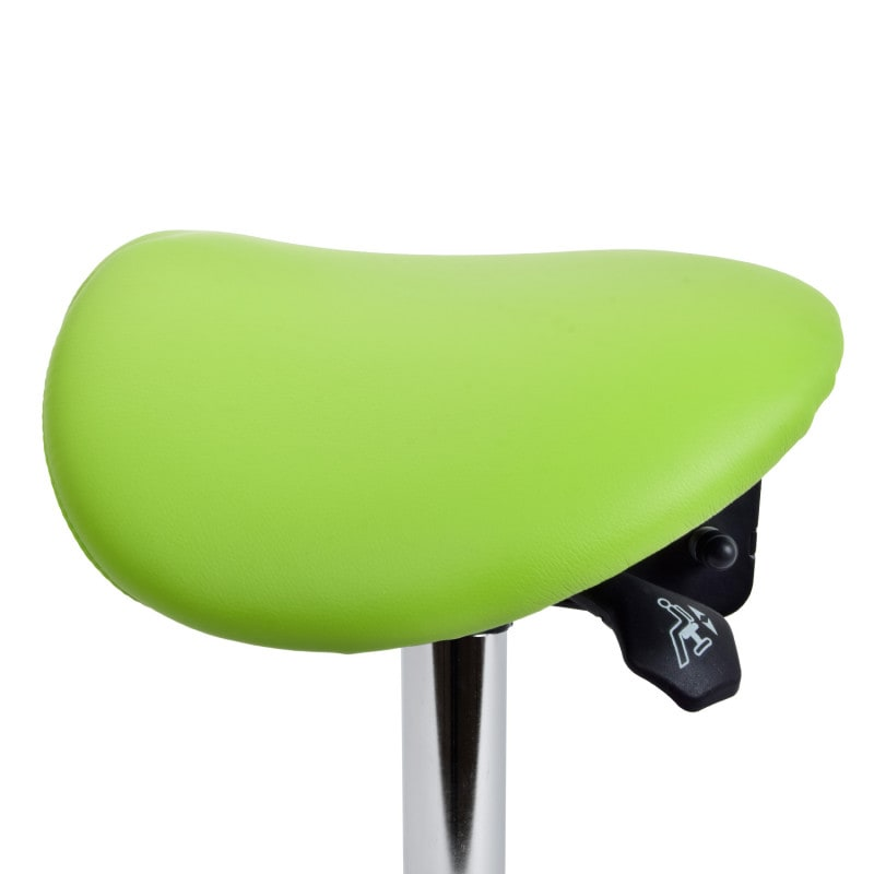 Seat height can be easily adjusted with the lever on the left side