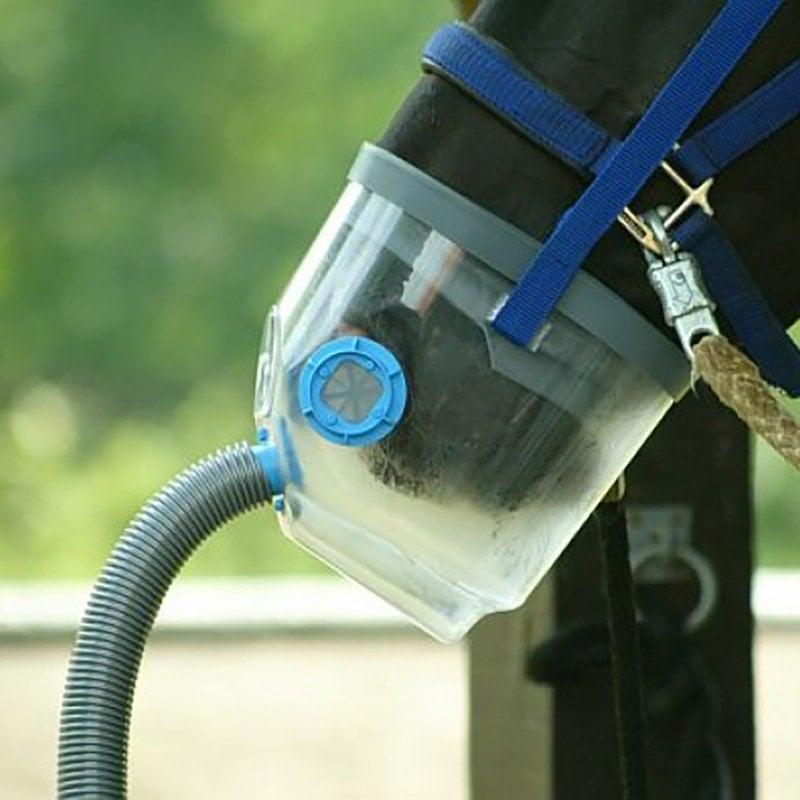 Der Atemschlauch des Air-one Inhalators gleitet bei einer Paniksituation leicht ab