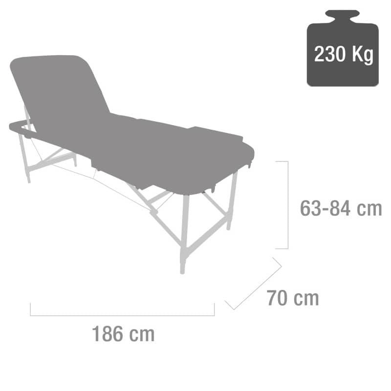 Capacità massima di carico: 230 kg