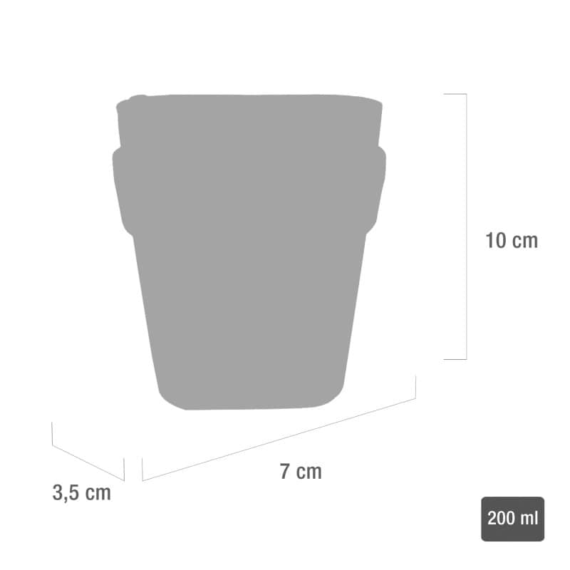 Dimensions and capacity of the sharps container