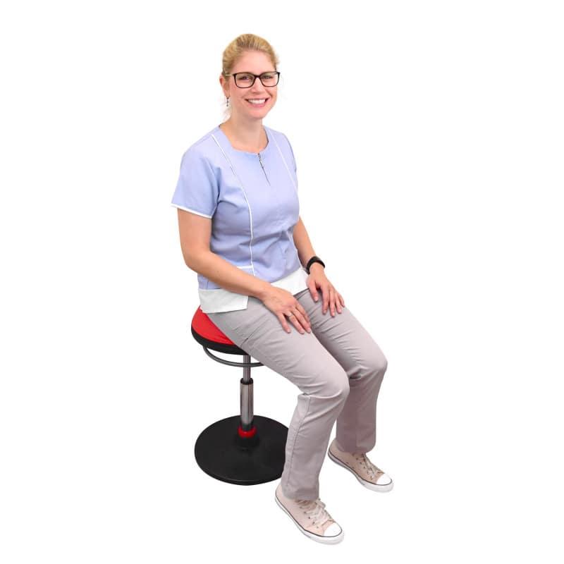 Ideal como asiento ergonómico para centros de salud