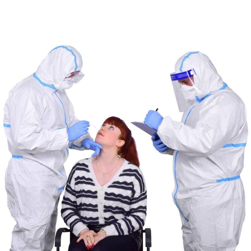 Ideal como equipo de protección personal para realizar pruebas de SARS-CoV-2