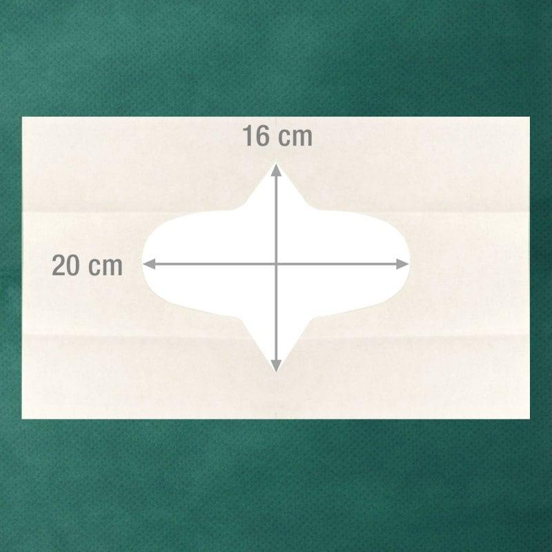 Der Lochausschnitt kann individuell an das OP-Feld angepasst werden