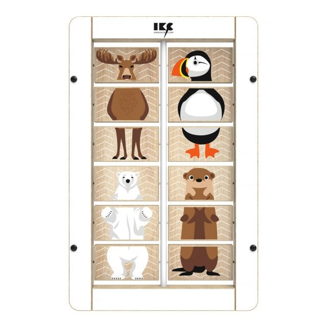 Puzzle do przesuwania IKC «Zwierzątka»