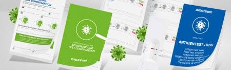 Certificado de prueba del SARS-CoV-2