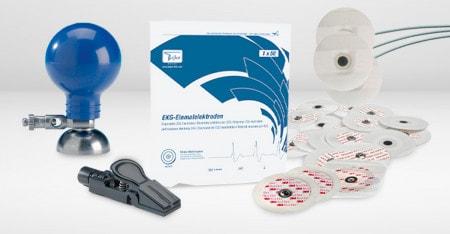 EKG-Elektroden & Elektrodengel