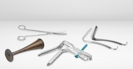 Gynaecological Instruments for Use in the Hospital or OBGYN Practice