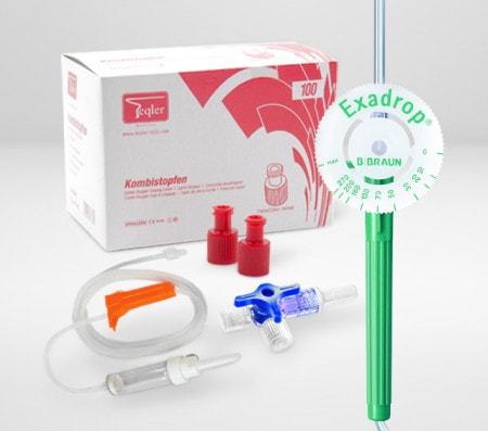 Equipos de infusión y accesorios