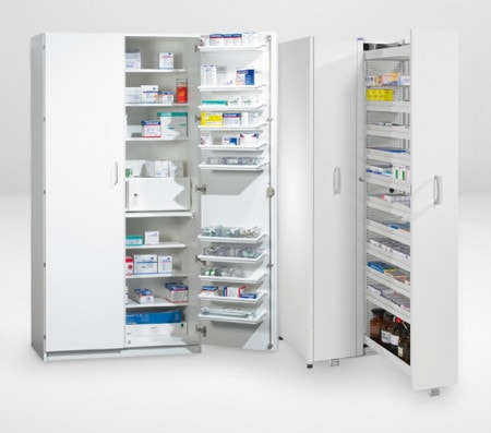 Armoires à médicaments pour les cabinets, cliniques & laboratoires