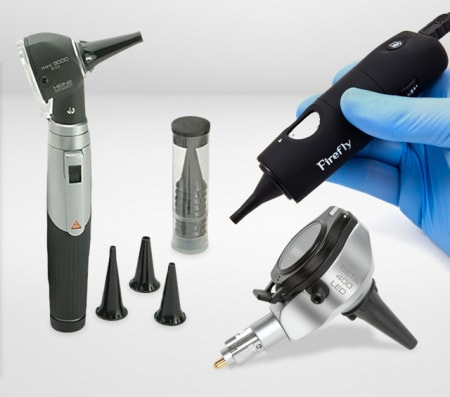 Otoscopes et kits d'otoscopie