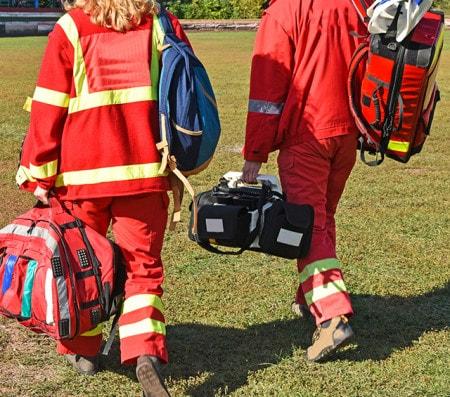 Notfalltasche und Notfallrucksack