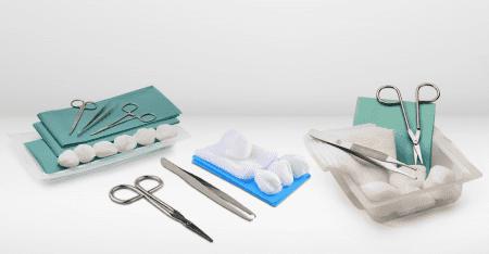 Kit sterili per medicazioni