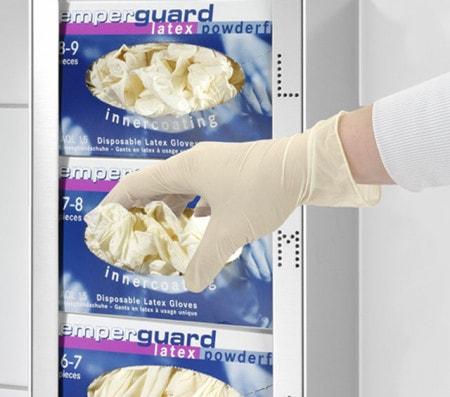 Handschuhspender für medizinische Handschuhe und Einmalhandschuhe