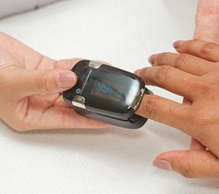 Messung der Sauerstoffsättigung mit dem Pulsoximeter