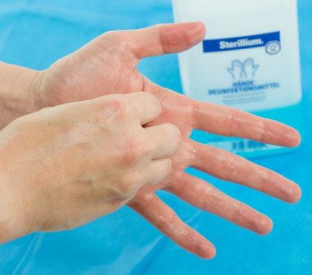Haut- und Händedesinfektion in der Tiermedizin