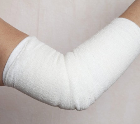 Bandage avec bandes à la pâte de zinc