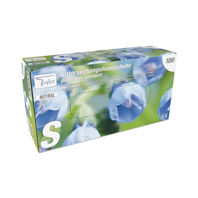 taille S AIESI Gants jetables en Nitrile bleu non poudr/és usage professionnel DOCTOR GLOVES Conformes aux Normes EN420 EN374 EN455 Lot de 100 unit/és
