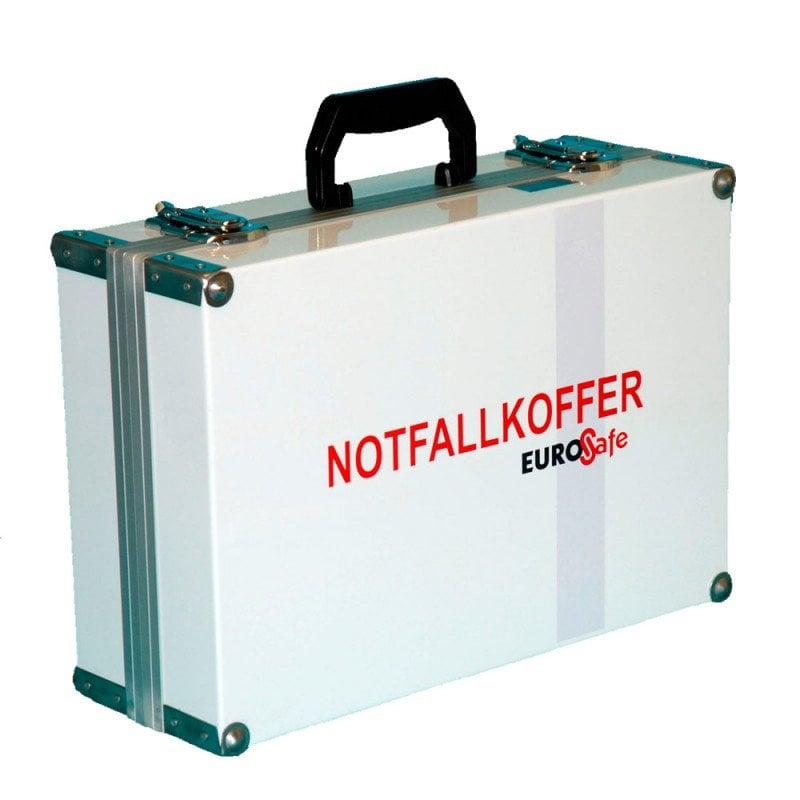 Notfallkoffer EuroSafe II mit 1 Liter Sauerstoffflasche, Koffer aus Aluminiumblech