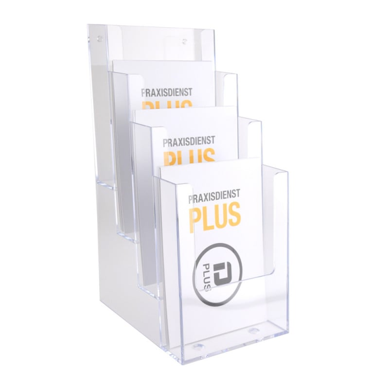 Table Brochure Holder, 1/3 A4. 4 compartments