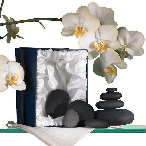 Kit de massage aux pierres chaudes - Kit d'initiation de 14 + 2 pierres