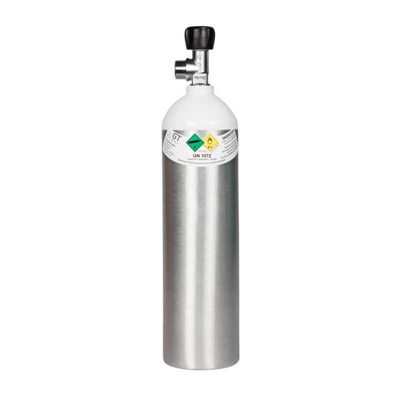 Botella de oxígeno de aluminio
